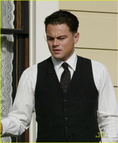 "Leonardo DiCaprio on the set of ""J Edgar"""