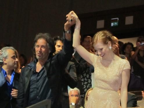 Venezia 2011 - Al Pacino & Jessica Chastain - Wilde Salome