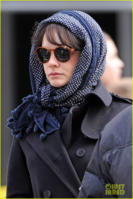 "Carey Mulligan bundles up while shooting her new film ""Inside Llewyn Davis"" in New York City"