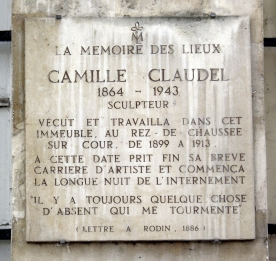 Plaque_Camille_Claudel,_19_quai_de_Bourbon,_Paris_4