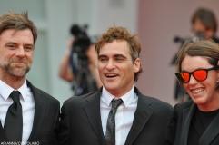 Paul Thomas Anderson, Joaquin Phoenix e Megan Ellison alla prima di The Master
