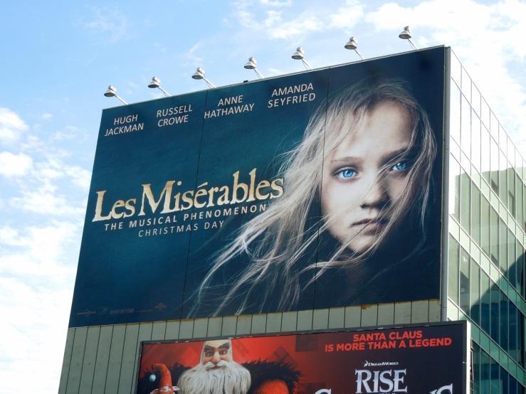 Giant Les Miserables film billboard