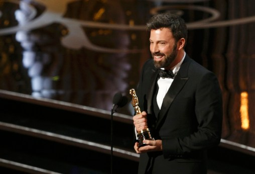 "Director and producer Ben Affleck accepts the Oscar for best picture for ""Argo"" at the 85th Academy Awards in Hollywood"