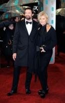 Hugh-Jackman-on-the-BAFTA-Film-Awards-red-carpet