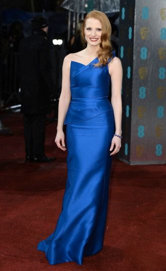 Jessica-Chastain-in-Roland-Mouret-at-BAFTAs-2013