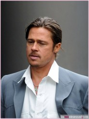 Brad Pitt Films 'The Counselor' In London