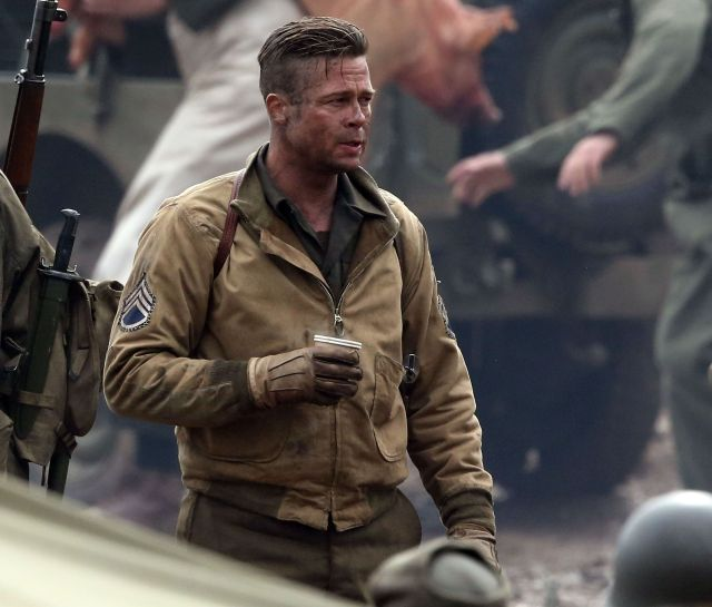 brad pitt fury 2014 ww2 jacket - filmjackets