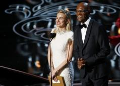 Presenters Jackson and Watts speak on stage at the 86th Academy Awards in Hollywood