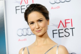 """Actress Katherine Waterston poses at the """"Inherent Vice"""" gala screening during AFI Fest 2014 in Hollywood"""