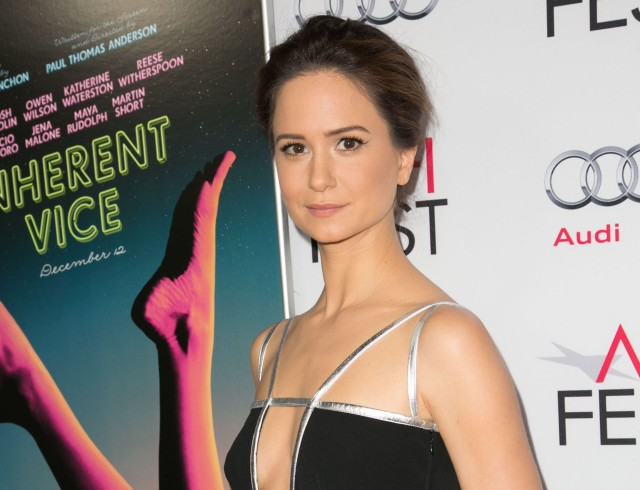 Celebrities attend AFI FEST 2014 INHERENT VICE screening presented by Audi at The Egyptian Theatre. Featuring: Katherine Waterston Where: Los Angeles, California, United States When: 08 Nov 2014 Credit: Brian To/WENN.com