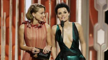 Amber Heard and Jaimie Alexander Globes