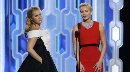 Amy Schumer Jennifer Lawrence Globes