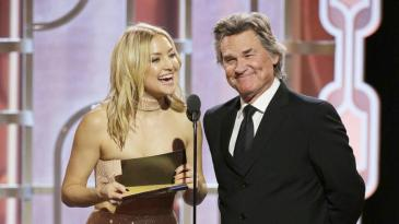 Kate Hudson and Kurt Russell Globes
