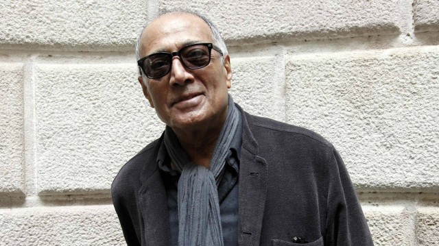 epa05407935 (FILE) A file picture dated 26 February 2015 shows Iranian filmmaker Abbas Kiarostami smiling during an interview wih Spanish international press agency Agencia EFE in Barcelona, Spain. According to media reports, Kiarostami has died in Paris on 04 July 2016, where he was undergoing medical treatment for cancer. He was 76. EPA/MARTA PEREZ