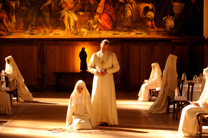 """set of """"The young Pope"""" by Paolo Sorrentino. 15/01/2016 sc.XQ  ep. X In the picture Jude Law. Photo by Gianni Fiorito"""