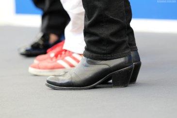 Eddie Izzard boots