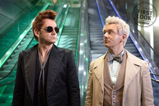 Good Omens Pictured: David Tennant & Michael Sheen