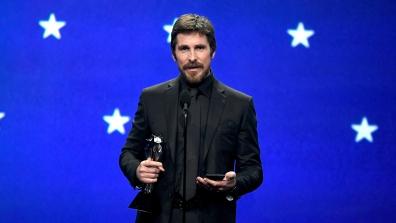 SANTA MONICA, CA - JANUARY 13: Christian Bale accepts the Best Actor award for 'Vice' onstage during the 24th annual Critics' Choice Awards at Barker Hangar on January 13, 2019 in Santa Monica, California. (Photo by Kevin Winter/Getty Images for The Critics' Choice Awards)